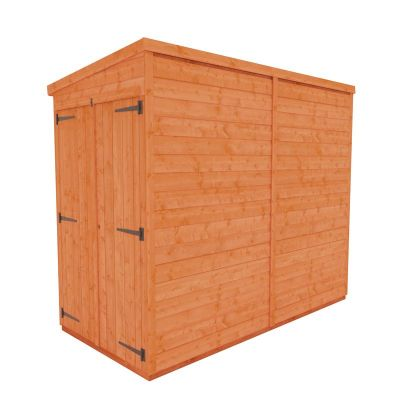 Redlands 4' x 8' Double Door Windowless Shiplap Modular Pent Shed