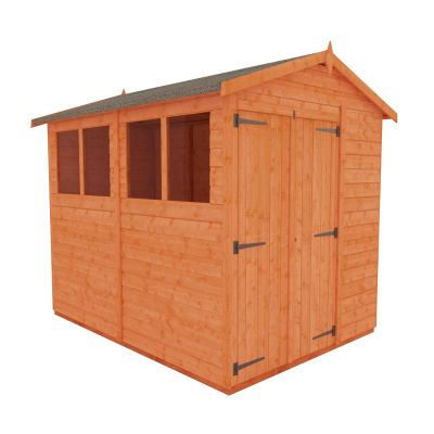 Redlands 6' x 8' Double Door Shiplap Modular Apex Shed