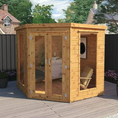 Adley 7' x 7' Chelsea Deluxe Corner Summer House