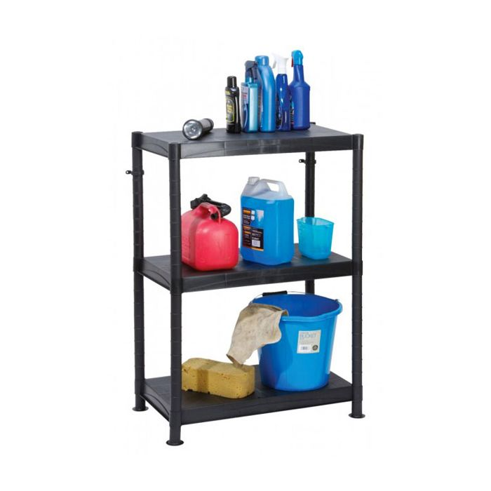 3 Tier Plastic Shelf Unit