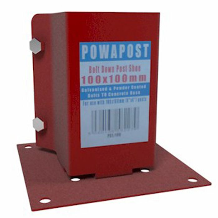 Adley PowaPost Bolt Down Shoe - 75mm