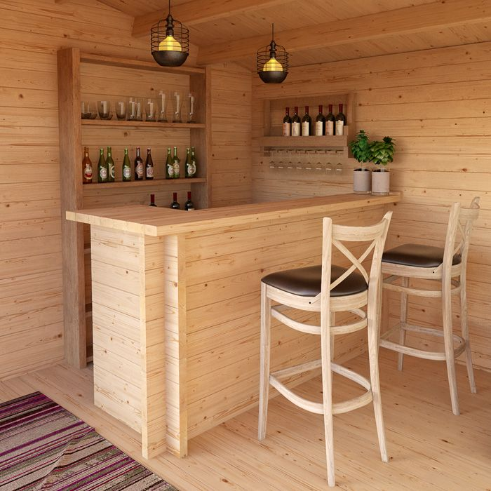 Greenway Log Cabin Style Drinks Bar