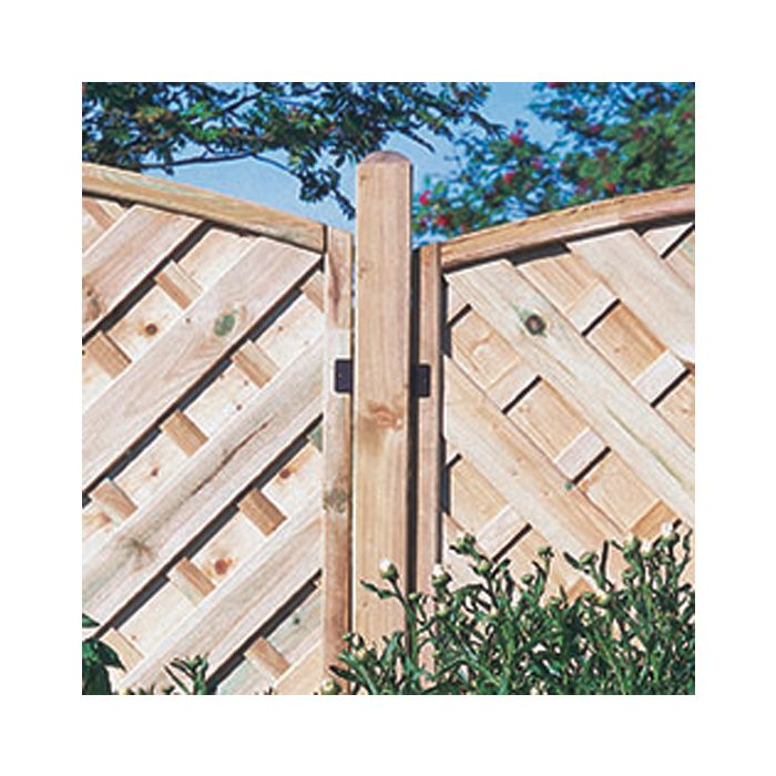 Hartwood 6' Dome Top Fence Post - 70mm
