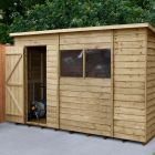 Hartwood 10' x 6' Overlap Pressure Treated Pent Shed