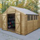 Hartwood 10' x 10' Double Door Overlap Pressure Treated Apex Workshop