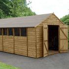 Hartwood 10' x 20' Double Door Overlap Pressure Treated Apex Workshop