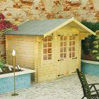 Redlands 3m x 2.4m Berwick Log Cabin