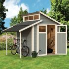 Rowlinson 7' x 7' Skylight Shed With Lean-To - Grey
