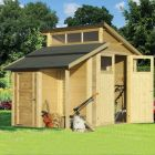 Rowlinson 7' x 7' Skylight Shed With Store