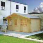 Redlands 4.8m x 3m Oakmont Log Cabin