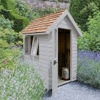 Hartwood 4' x 6' Painted Deluxe Redwood Overlap Apex Retreat Shed - Pebble Grey