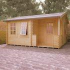 Redlands 4.8m x 4.2m Bellerive Log Cabin
