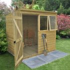Hartwood 7' x 5' Premium Tongue & Groove Pressure Treated Pent Shed