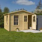 Rowlinson 3.4m x 2.1m Garden Studio Log Cabin