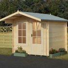 Loxley 2.4m x 2.4m Coulsdon Log Cabin