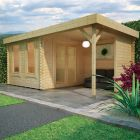 Redlands 4.8m x 3m Pinehurst Log Cabin
