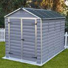 Palram 6' x 10' Skylight Plastic Grey Shed