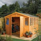 Rowlinson 9' x 12' Double Door Tongue and Groove Apex Workshop