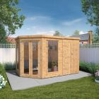 Adley 11' x 7' Chelsea Deluxe Corner Summer House With Side Shed