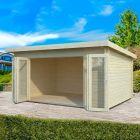 Stour 4.5m x 3.3m Cleveland Log Cabin
