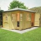 Redlands 4.2m x 3m Swinley Corner Log Cabin