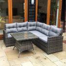 Oren Napoli 5-7 Seater Rattan Lounge High Back Corner Sofa Set