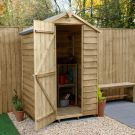 Hartwood 4' x 3' Windowless Overlap Pressure Treated Apex Shed