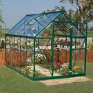Palram 6' x 10' Harmony Green Polycarbonate Greenhouse