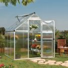 Palram 6' x 6' Mythos Silver Polycarbonate Greenhouse