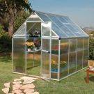 Palram 6' x 8' Mythos Silver Polycarbonate Greenhouse