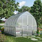 Palram 8' x 12' Bella Silver Polycarbonate Greenhouse