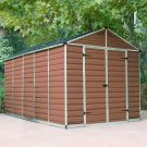 Palram 8' x 17' Skylight Plastic Amber Shed