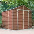 Palram 8' x 8' Skylight Plastic Amber Shed