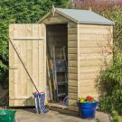 Rowlinson 4' x 3' Pressure Treated Shiplap Apex Shed
