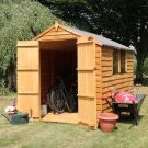 Adley 6' x 8' Double Door Overlap Apex Shed