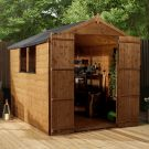 Adley 6' x 8' Pressure Treated Double Door Shiplap Apex Shed