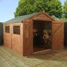 Adley 6' x 10' Premium Pressure Treated Double Door Shiplap Apex Shed