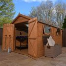 Adley 8' x 12' Premium Pressure Treated Double Door Shiplap Apex Shed