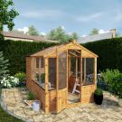 Adley 6' x 10' Budget Shiplap Greenhouse With a Shed