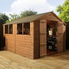 Adley 8' x 10' Pressure Treated Double Door Shiplap Apex Shed