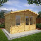 Adley 4m x 3m Lincoln Log Cabin