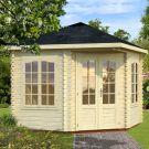 Stour 2.8m x 2.8m Premium Huntingdon Corner Log Cabin