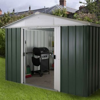 "YardMaster 9' 9"" x 7' 7"" Apex Metal Garden Shed"