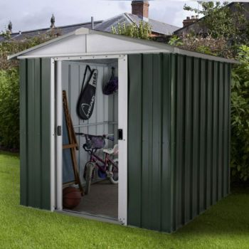 "YardMaster 6' 6"" x 4' 4"" Apex Metal Garden Shed"