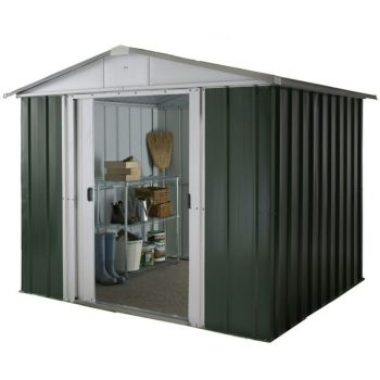 "YardMaster 7' 9"" x 9' 1"" Apex Metal Garden Shed"