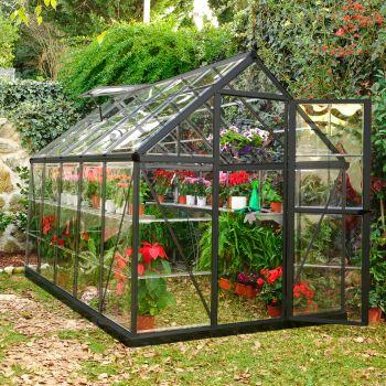 Palram 6' x 10' Harmony Grey Polycarbonate Greenhouse
