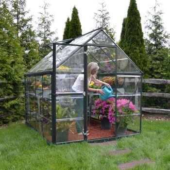 Palram 6' x 8' Harmony Grey Polycarbonate Greenhouse