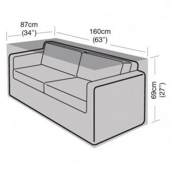 Cover Up - 2 Seater Small Sofa Cover - 160cm