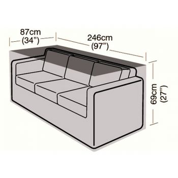 Cover Up - 3 Seater Rattan Sofa Cover - Small - 246cm