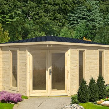 Greenway 4.48m x 2.8m Ashdown Corner Log Cabin